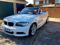 BMW 118d 2010 M sport Convertible Manual Diesel White Red Leather 59k