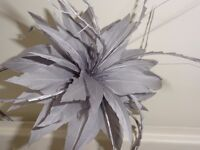 Pale Grey Fascinator