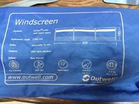 Camping Wind screen..Made by Outwell and in blue heaven colour used 3 times.