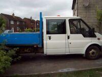 ford trans crew cab tipper [spares or repairs] 2004 reg 2.4 diesel no mot