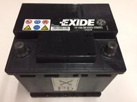 EXCIDE CAR BATTERY. HARDLY USED.