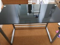 Glass topped desk - good condition