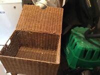 3 x Wicker Storage Baskets