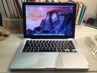 Apple Macbook aluminum A1278 , 6gb Ram, 250GB hdd + charger
