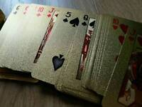 Gold plated playing cards 24k