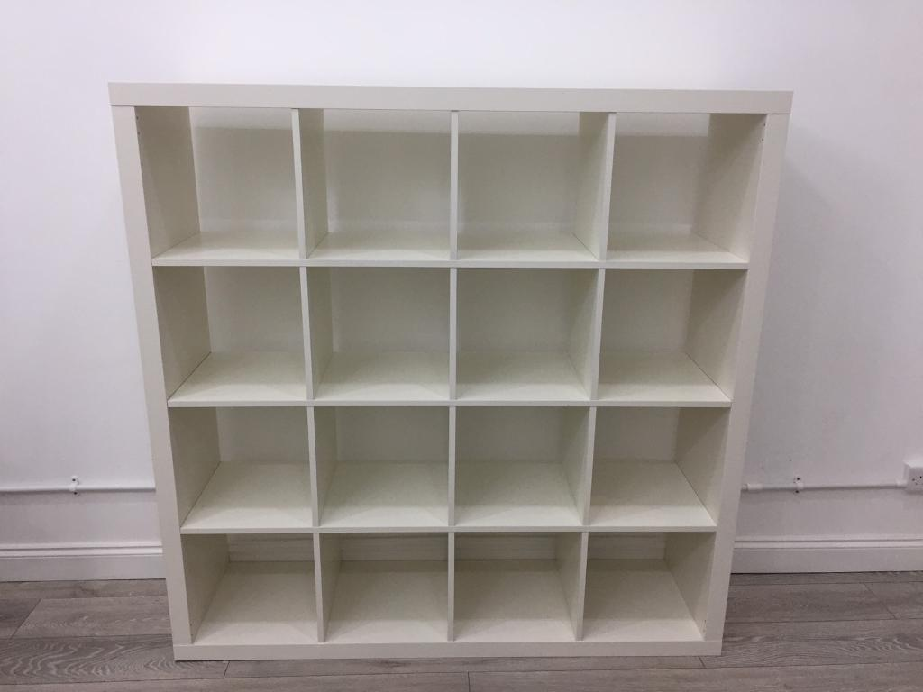 White ikea kallax cube unit in trafford manchester gumtree