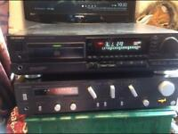 Technics 460w amp and CD player seperates old school
