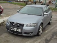 AUDI A3 1968cc SPORT TDI S LINE AUTOMATIC TURBO DIESEL 3 DOOR HATCH 2004-54,