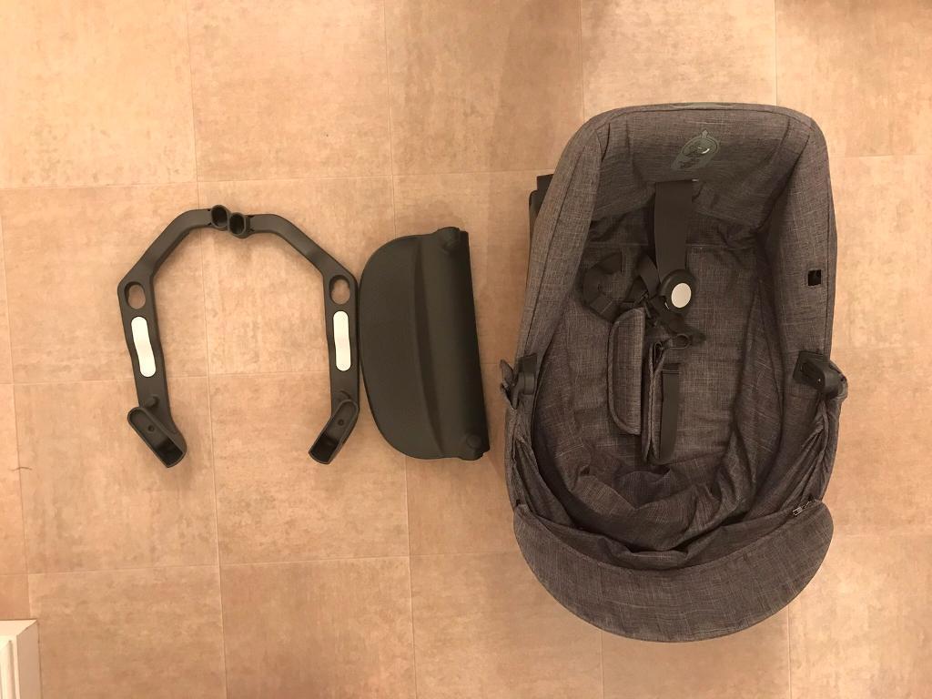 Stokke Crusi Sibling Seat in Black Melange - Brand New