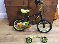 "Apollo claws 14"" bike with stabilisers"