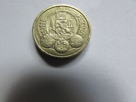 2011 Cardiff city one pound coin