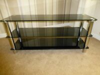 Matrix-Glass Plasma TV Bench