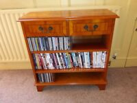 Yew storage unit suitable for CD's , DVD's , books.