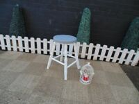 SOLID PINE STOOL PAINTED WITH LAURA ASHLEY PARIS GREY&PALE DOVE