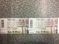 2 Tickets for the ODI at Headingley between England and India on the 17th July