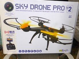 Sky Drone Pro v2. Omni-directional control 5-channel R/C Quadcopter with HD wi-fi camera.