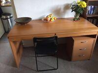 LARGE desk, 3 drawer unit & chair