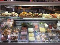 Serve over counter display fridge