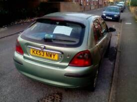 Rover 25 1.4l . Less than 60,000 miles. Needs new clutch