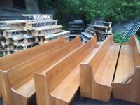 10ft and 12ft church pews