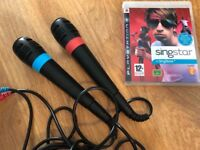 PlayStation 3 Singstar game and Microphones