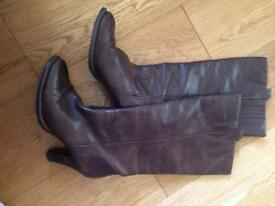F&F Brown Leather Boots size 5