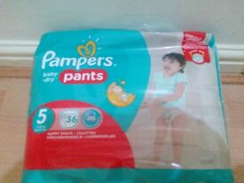 Unopened Pampers Size 5