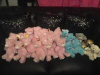 Job lot teddies for nappy cakes hampers gifts