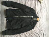 AllSaints Kurne Leather Bomber