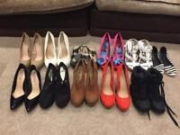 Women's shoes size 6 size 7 Job lot