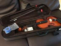 1/2 size violin made by Stentor, with bow and case