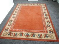 "Rug multicoloured size 7ft x 5ft 3""approx (83.5x63cm) excellent condition as new"