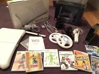 Nintendo Wii Bundle Console, Fit Balance Board and Games inc Zelda and Mario Kart