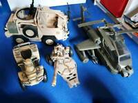 Action man army vehicles bundle
