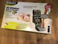 HoMedics SBM-600H-GB Shiatsu Ultimate Back and Shoulder Massager Heat Included