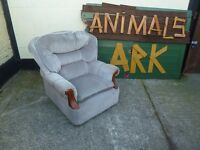 Grey Fabric Armchair Delivery Available £15