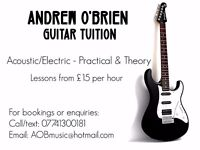 North Lanarkshire Based Guitar Tuition - Beginner & Intermediate Lessons For Competitive Rates.