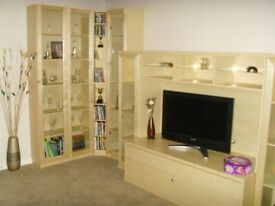Large Ikea TV Cabinet Wall Unit & Display Cabinet