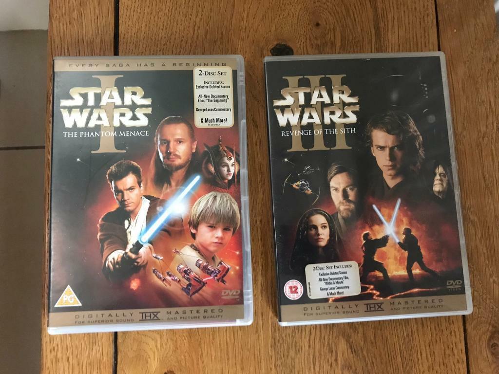 Star Wars Digitally Remastered Dvd S Episode 1 And 3 In Dorking Surrey Gumtree