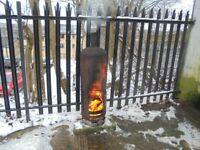 log burner wood heater garage workshop garden SERIOUS HEAT stove