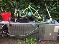 Free to take away fridge freezer and old metal bike etc need gone asap