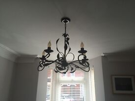 Matching chandelier and wall light for lounge and dining rooms