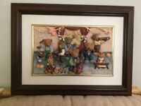 Bear Orchestra Framed Picture