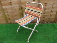 retro folding camping garden chair light weight