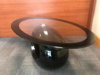 Coffee table with magazine rack - Black/Glass *part missing*