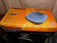 panasonic sl-sx300 persnal cd player new in box