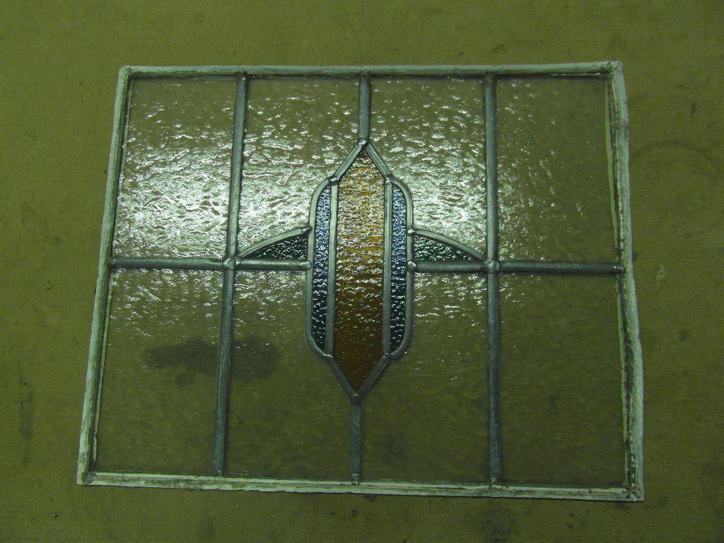 Vintage art deco stained glass window in hebden bridge for Art deco glass windows