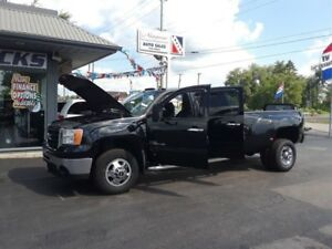 2008 GMC Sierra 3500HD SLT, Crew, 4X4, Navigation, Sunroof, Heat