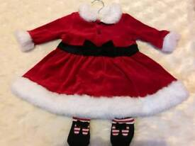 Mothercare dress and tights 6-12 months