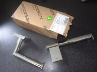 Two (2) Bagno Chrome Toilet Roll holders - Brand New
